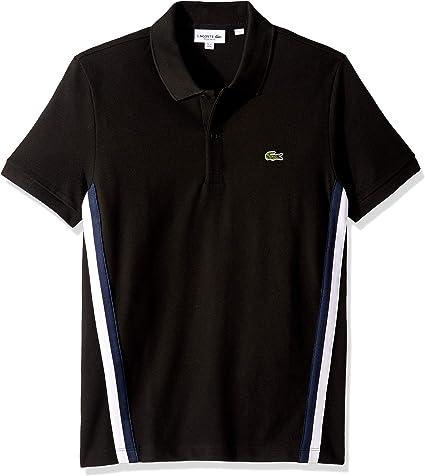 Lacoste Men/'s Regular Fit Stripe Pique Polo Shirt