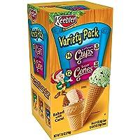 Keebler Cones Variety Pack (12 Sugar Cones, 14 Vanilla Cups), 7.6-Ounce Boxes