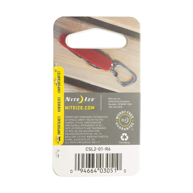Black Nite IZE SLIDELOCK Carabiner Size 2