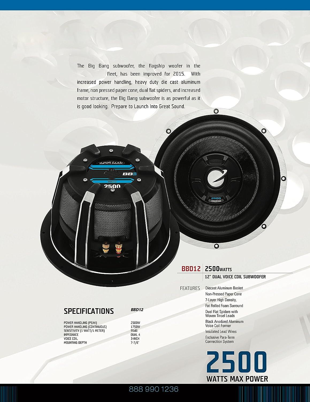 Planet Audio PX12 AXIS 12 inch Single Voice Coil 1000 Watt Car Subwoofer 4 Ohm