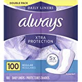 Always Xtra Protection Daily Liners, Regular, 100 Count