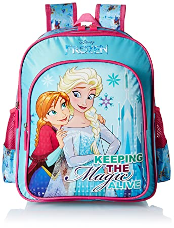 2146ff2ac36 Image Unavailable. Image not available for. Colour  Frozen Blue School Bag  for Children ...