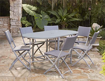 Groovy Amazon Com Cosco Outdoor Dining Set With Chair Storage Machost Co Dining Chair Design Ideas Machostcouk