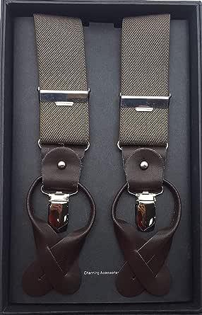 Billioni Unisex Olive Suspender