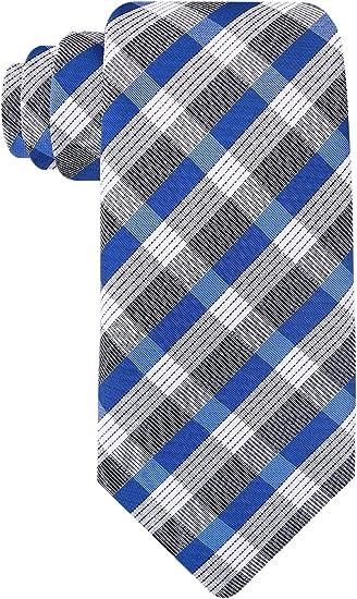 Scott Allan Men?s Checkerboard Navy Blue Necktie Navy Blue And White Tie