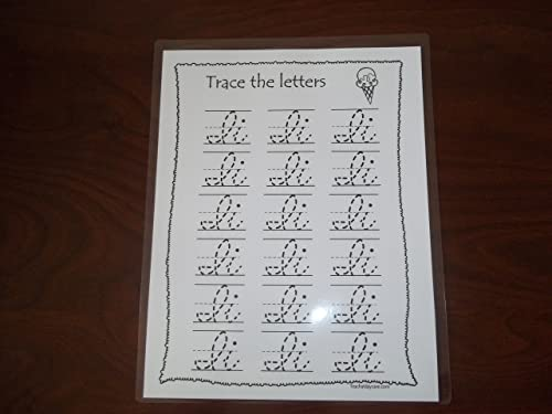 Amazon.com: 26 Preschool Dry Erase Cursive Alphabet Tracing ...