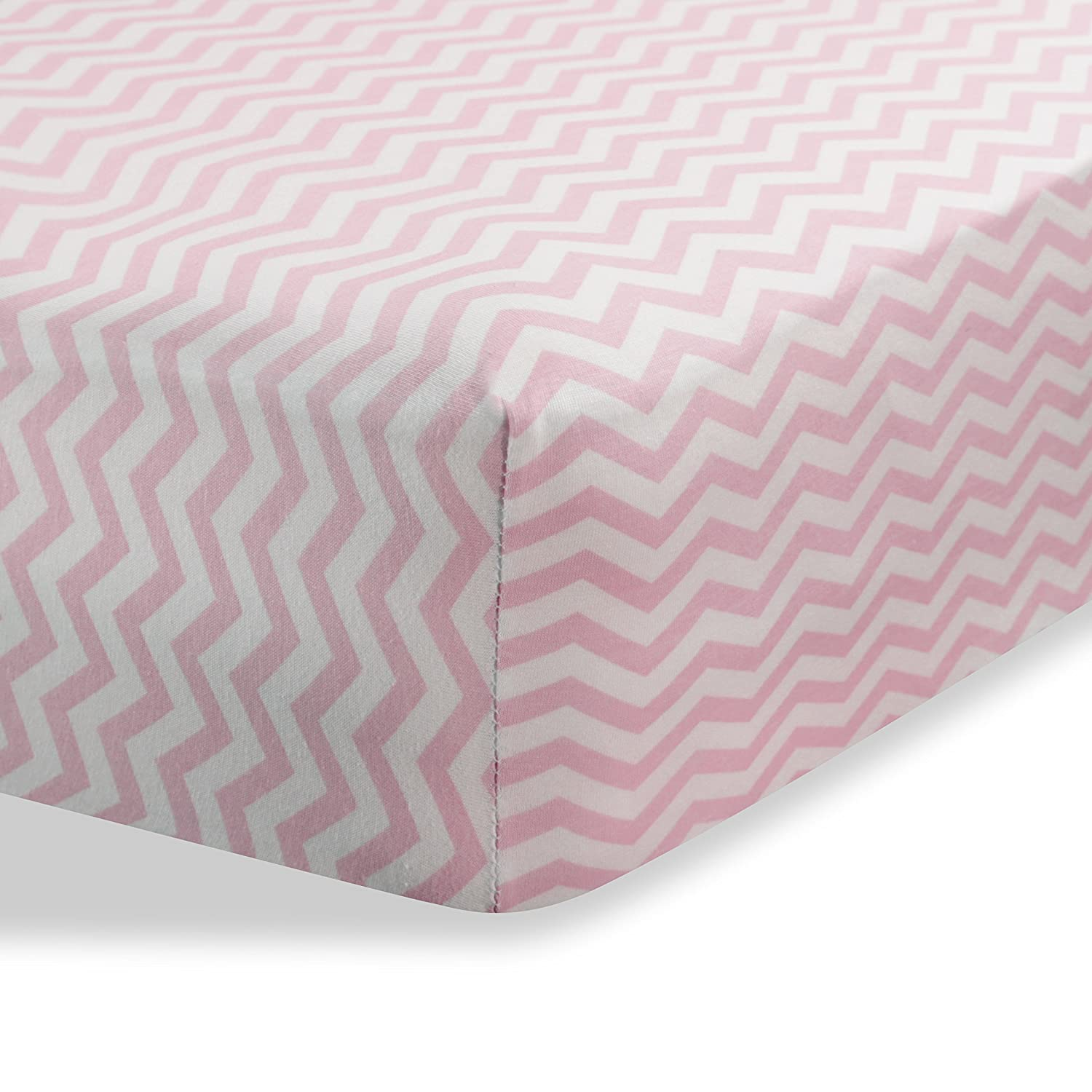 Bassinet sheets cradle sheets Abstract bassinet sheets cradle sheets for Baby / Infant Deep Fitted Soft Jersey Knit by Abstract 16 x 32 (Beige Zigzag)