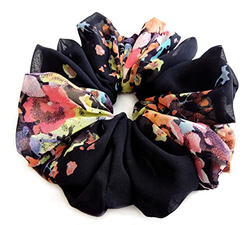 Flower scrunchie hot pink,baby pink and black