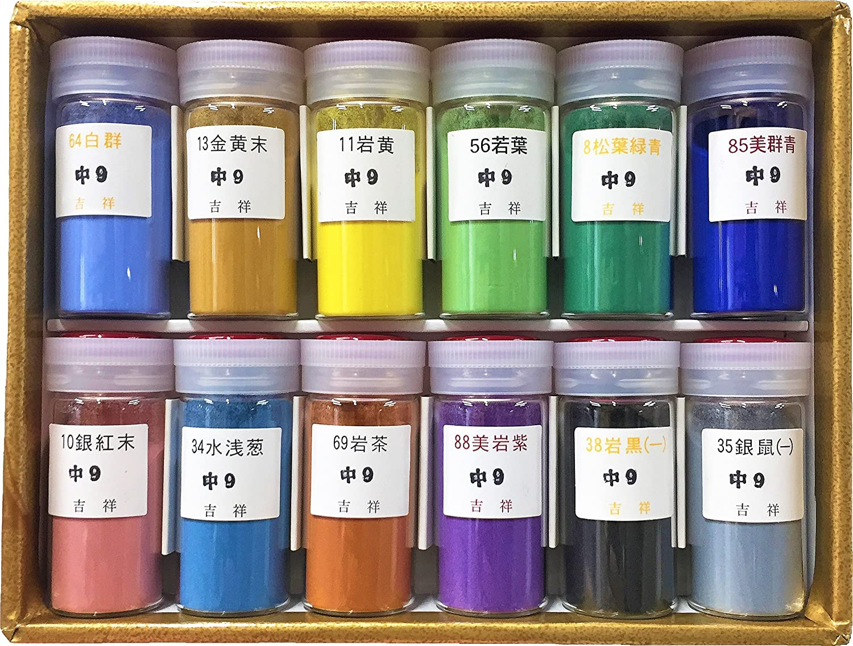 吉祥 日本画用絵具 岩絵具 12色セット B001GQ38BK   12色