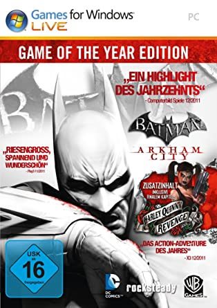 Batman Arkham City Game Of The Year Edition Pc Download Amazon