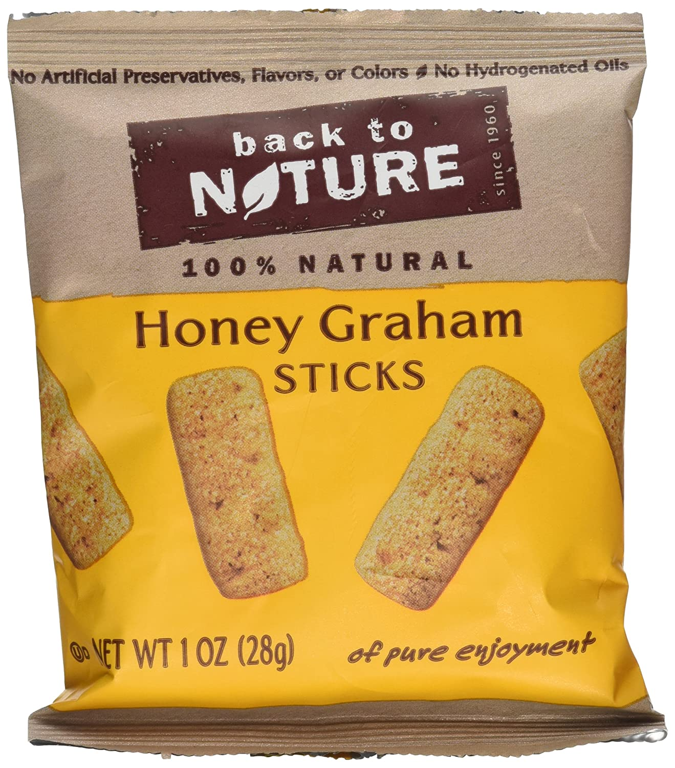 Back To Nature Honey Graham Stick Cookies 1 oz. 8-Count (Pack of 4)
