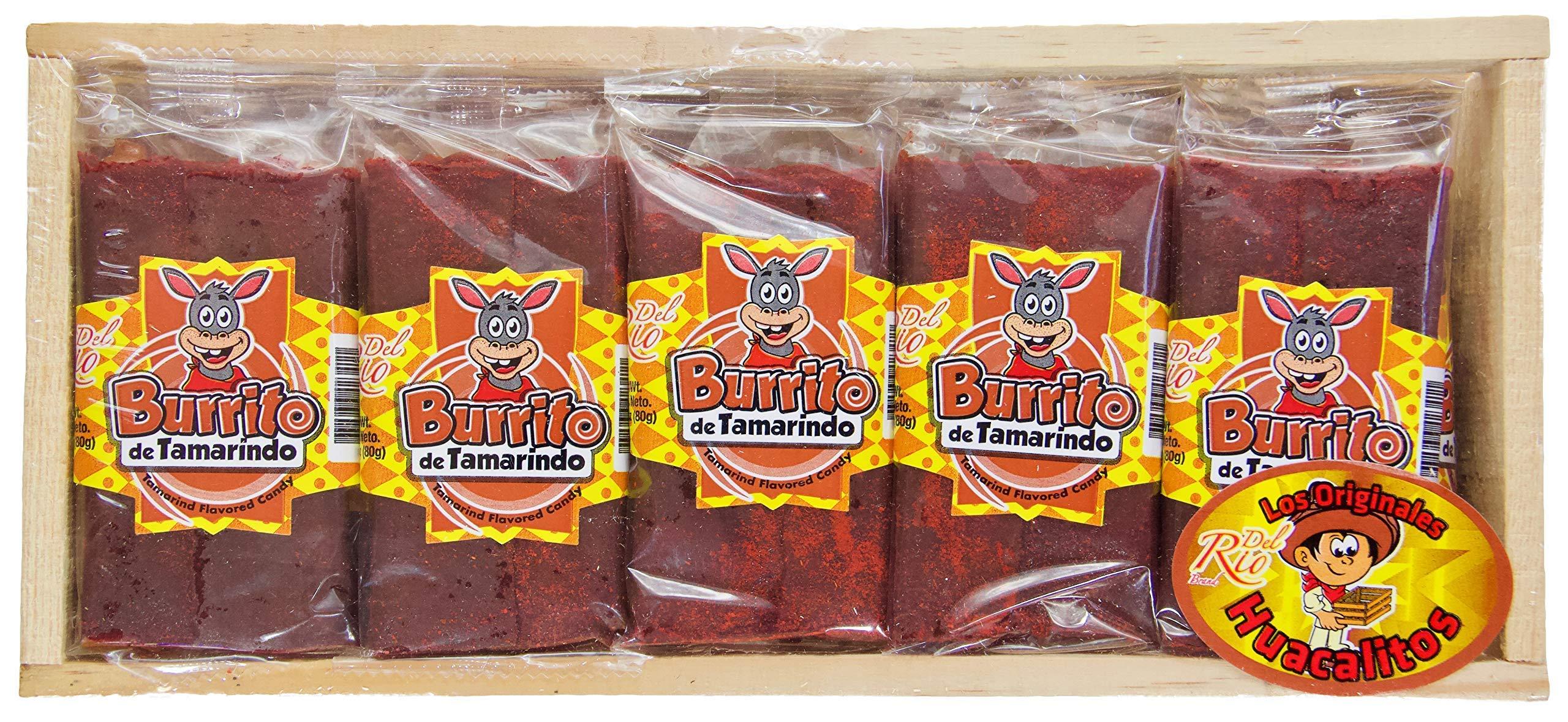 Burrito de Tamarindo: Tamarind Flavored Candy (24 Pieces) by Del Rio Brand