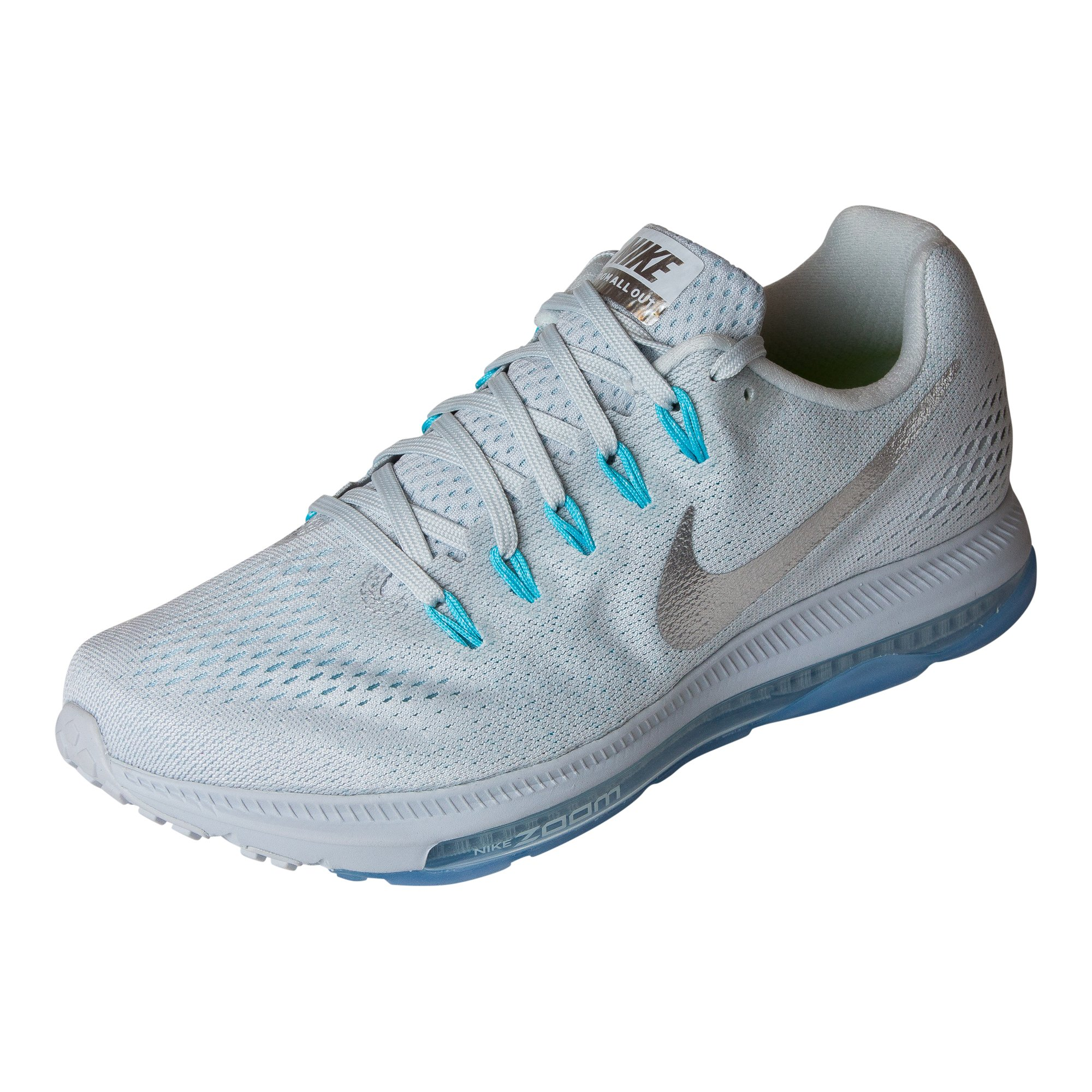 Nike Zoom All Out Low Size 7.5 Womens Running Pure Platinum/Chrome-Glacier Blue Shoes by NIKE (Image #1)