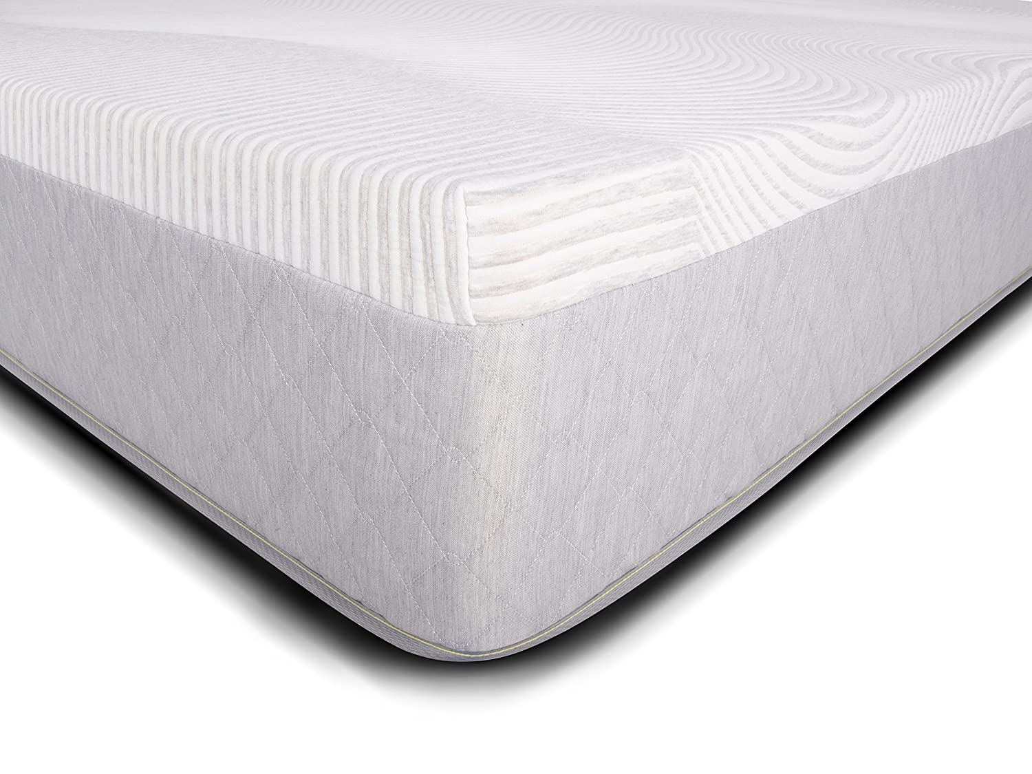 Dreamfoam iPedic Sojourn 12 Medium Comfort Gel Memory Foam Mattress, Queen-Made in The USA