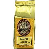 Aloha Island Coffee Company Gold II, Luxurious Estate Kona Coffee Blend, 8-Ounce Bag