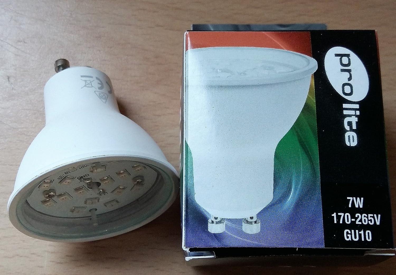 Prolite GU10 PAR16 Magenta 7w LED Reflector Light Bulbs 2pk Foglish