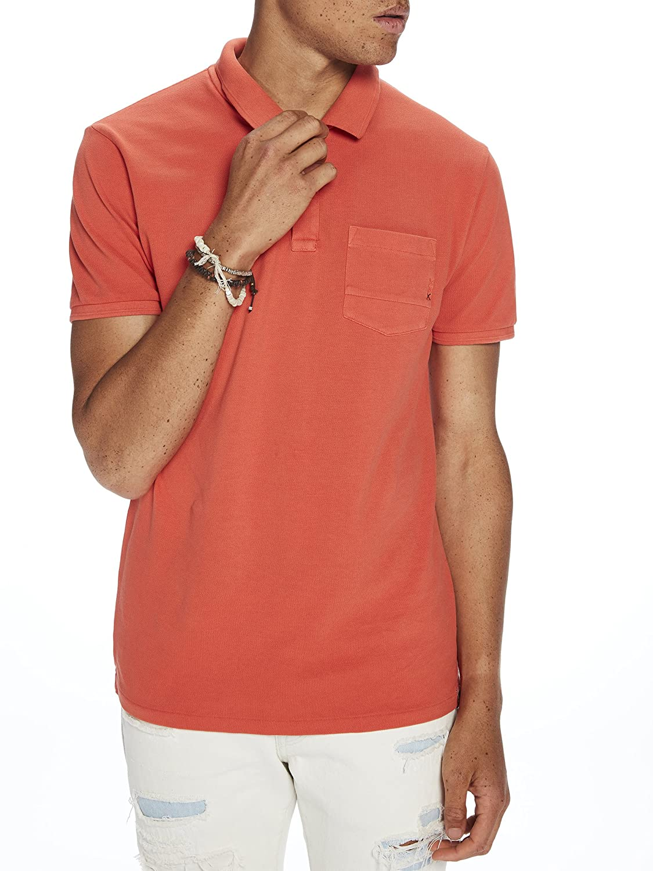 ea44254b Amazon.com: Scotch & Soda Men's AMS Blauw Garment Dyed Polo with XXX Pocket:  Clothing