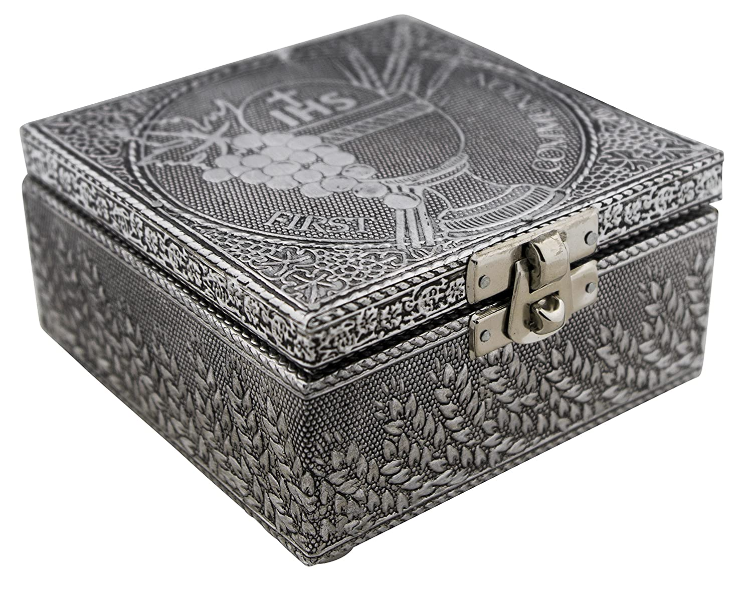 Forever in My Heart, Copper Finish VGI Elegant Jewelry Box with Hammered Metal Cladding and Soft Fabric Interior