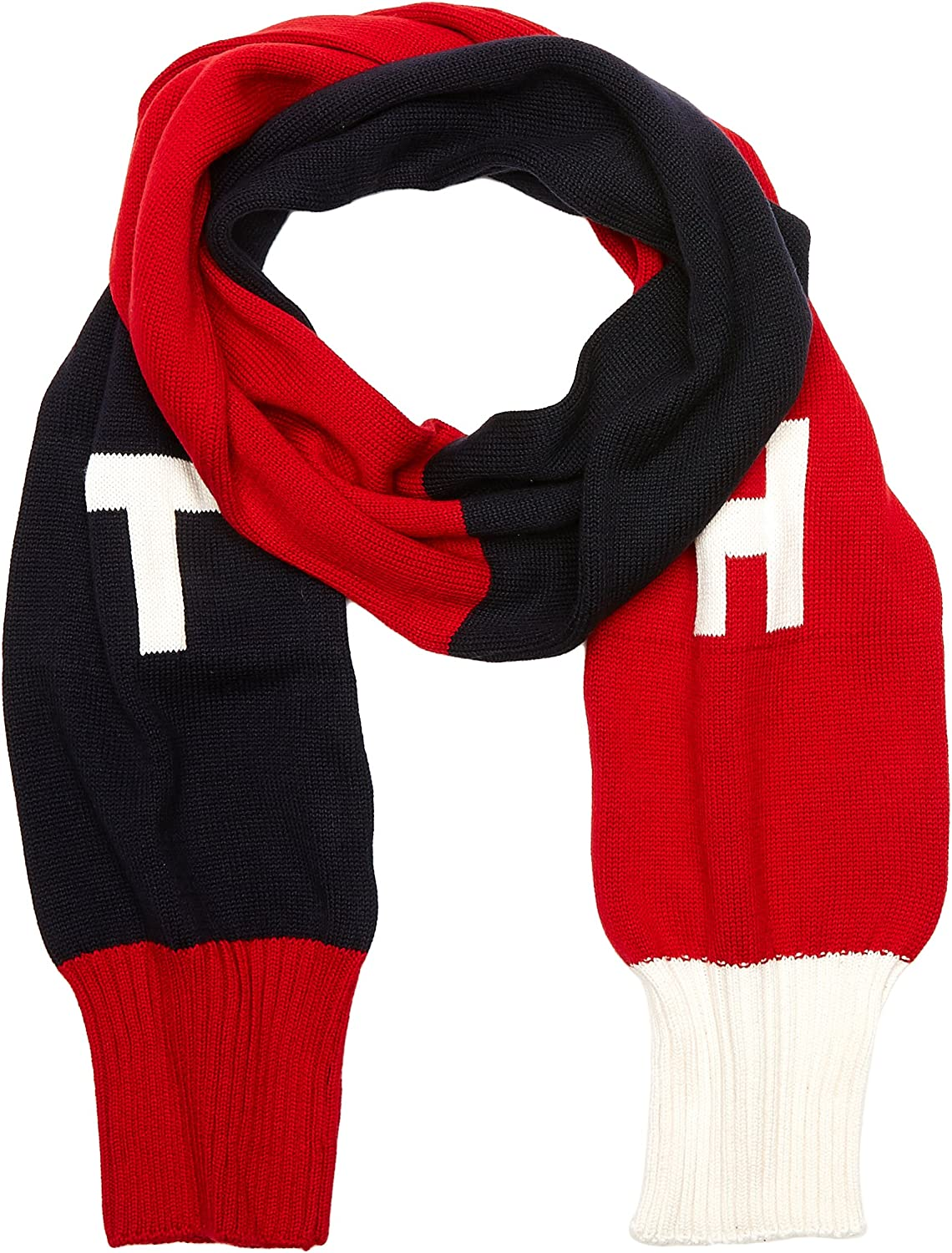 TOMMY HILFIGER TH Denim Knit Scarf Bufanda, Multicolor (Corporate Clrs), única (Talla del Fabricante: OS) para Mujer