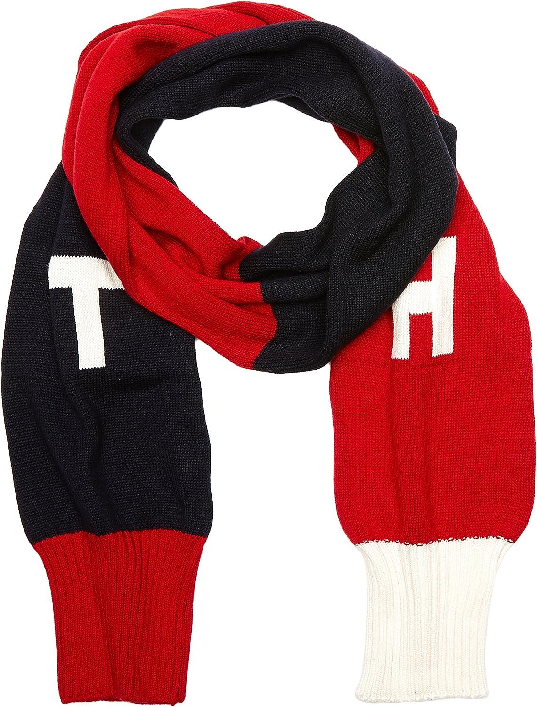 TOMMY HILFIGER TH Denim Knit Scarf Bufanda, Multicolor (Corporate Clrs), única (Talla del Fabricante: OS) para Mujer