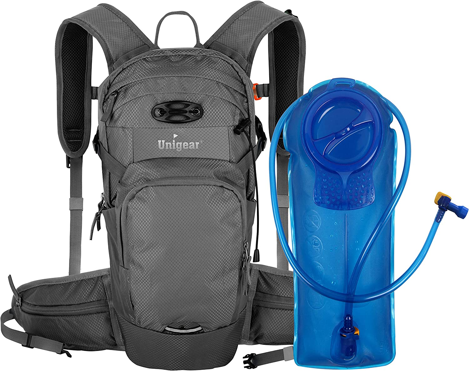 Unigear Hydration Packs Backpack with 2L TPU Water Bladder Reservoir, Thermal Insulation Pack Keeps Liquid Cool up to 4 Hours for Running, Hiking, Climbing, Cycling
