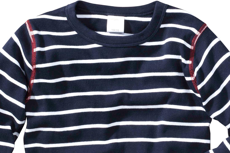 wellyou Einteiler Langarm Geringelt Schlafanzug Feinripp 100/% Baumwolle Pyjama f/ür Jungen und M/ädchen gr/ün wei/ß gestreift Baby Kinder