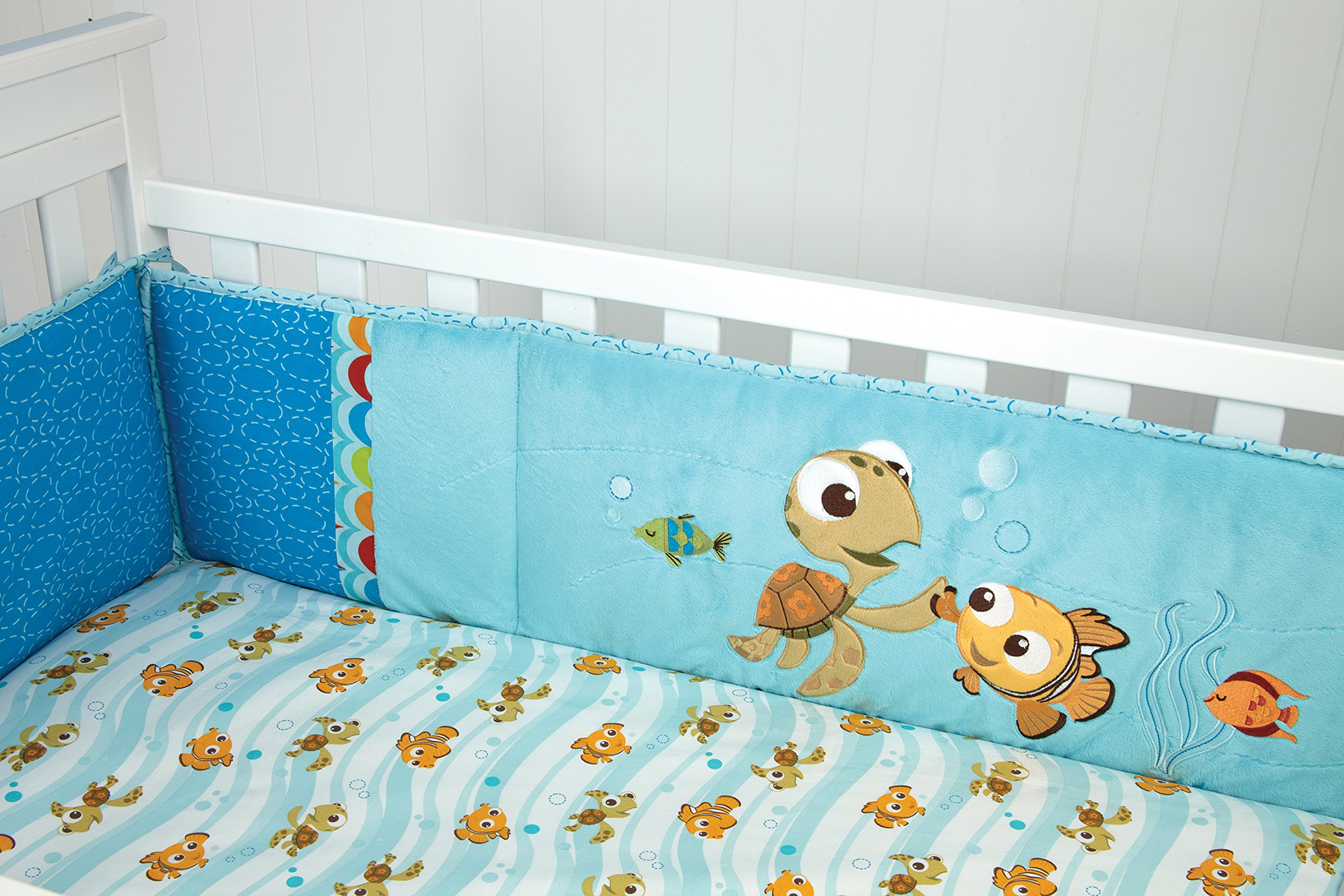 New Disney Finding Nemo 8 Piece Crib Bedding Set Limited