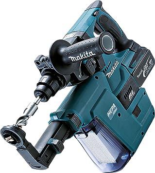 Makita - Martillo inalámbrico para Sds Plus (18 V, 5,0 Ah, en estuche Makpac, incluye 2 baterías, cargador y aspirador de polvo DX02, DHR243RTJV): Amazon.es: Bricolaje y herramientas