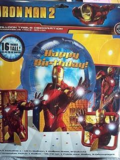 Amazon iron man invitations w envelopes 8ct toys games iron man 2 mylar balloon table decoration kit filmwisefo