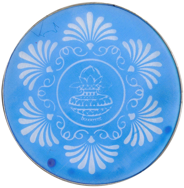 Exotic India Rangoli Stencil Strainer, Blue, 7.7 x 0.2 x 7.7-Inch ZCJ66