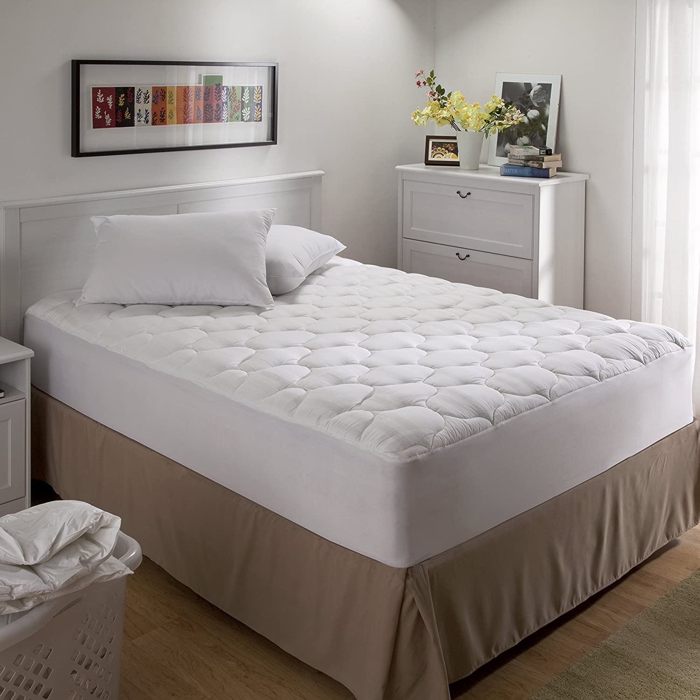 Hotel Elite Premium Egyptian Cotton Mattress Pad, Full American Textile Company 59682AMZ
