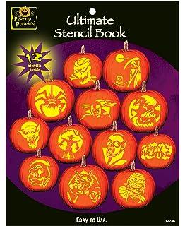 Pumpkin stencils 18 funny spooky faces pumpkin carving stencils the perfect pumpkin ultimate stencil book maxwellsz