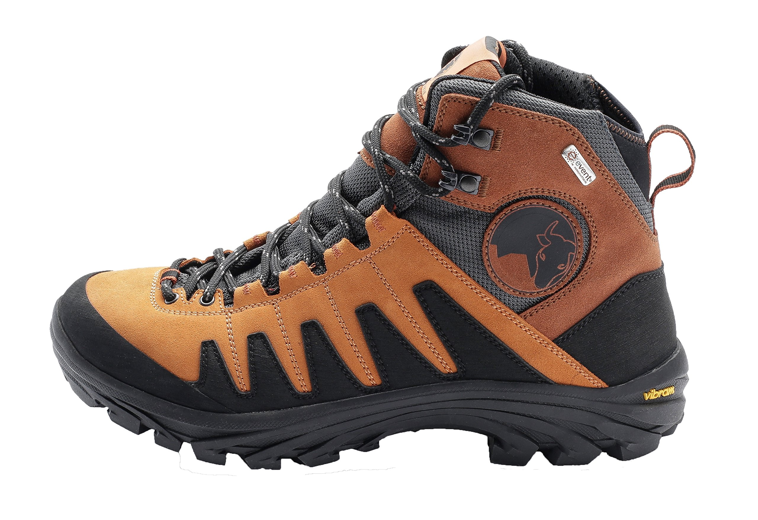 Mishmi Takin Kameng Mid Event Waterproof Hiking Boot (EU 41/US Women 9.5/US Men 8.5, Sunset Orange)