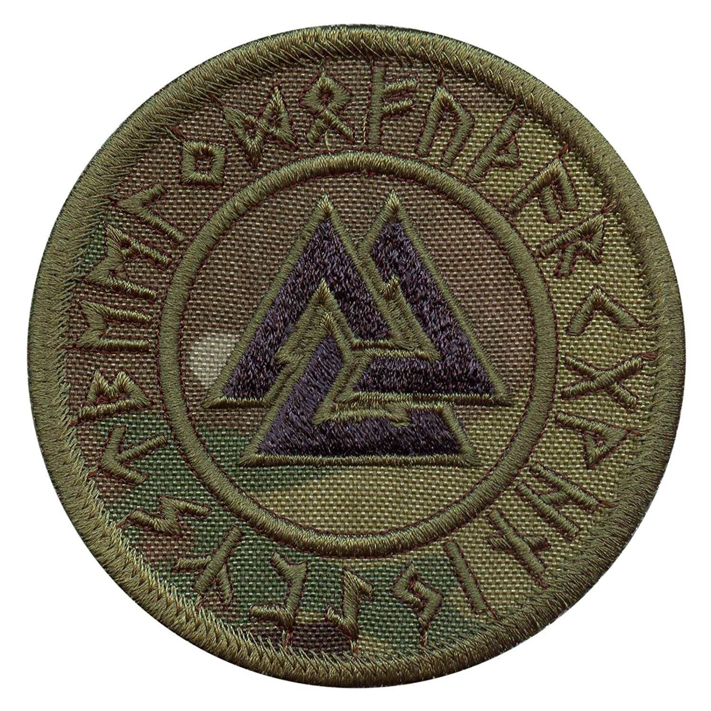 Multicam Valknut Viking Norse Runic Heathen Pagan Odin God Rune Morale Tactical Fastener Patch 2AFTER1 P.1440.402.V
