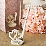 Fashioncraft Vintage Style Double Heart Design Pen Set From Fashioncraft, Ivory