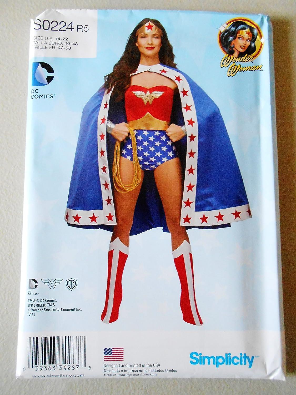 Wonder Woman Simplicity 0224 - Patrón de costura para disfraces de ...