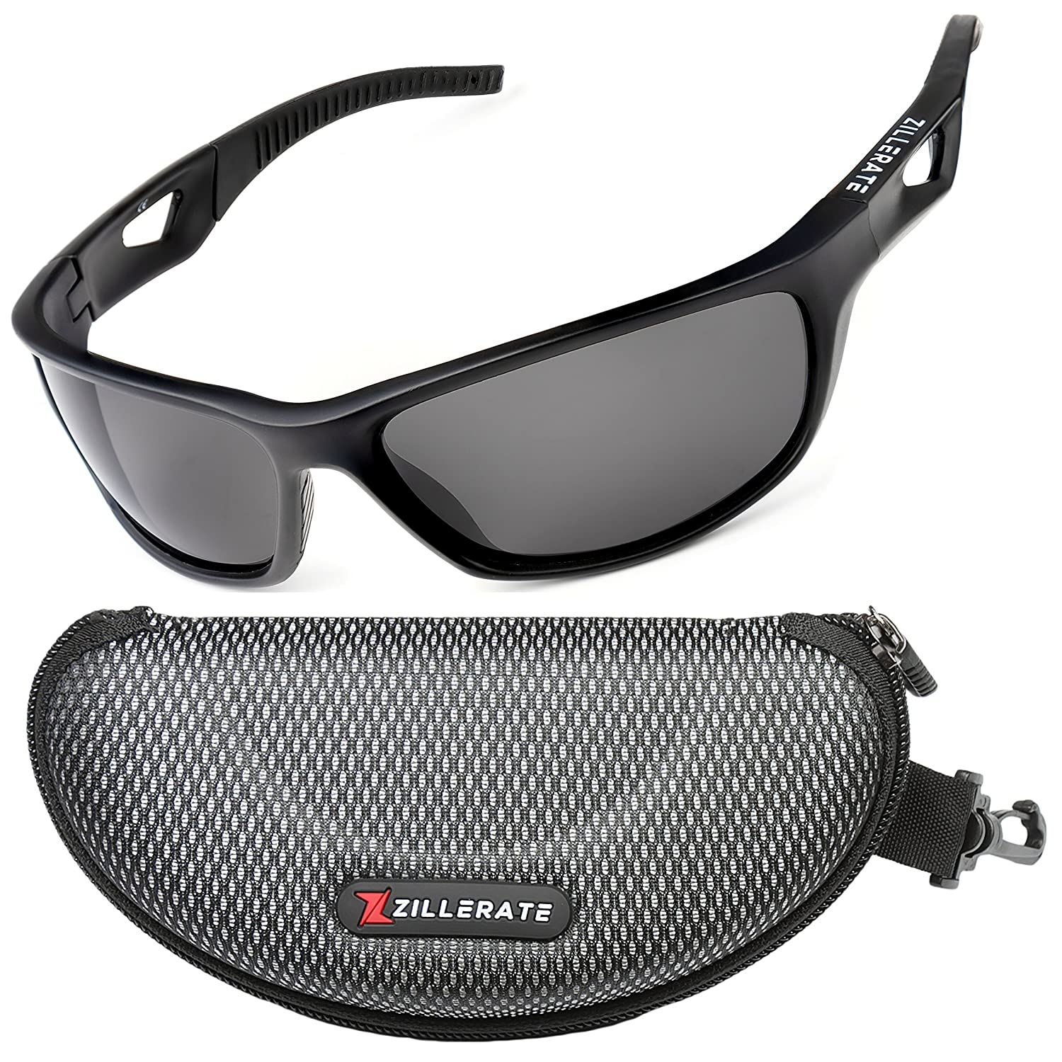7815d802f9a ZILLERATE Mens Womens Polarized Sports Sunglasses - UV400 Protection ...