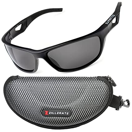 50a84729fc7 ZILLERATE Mens Womens Polarized Sports Sunglasses - UV400 Protection ...