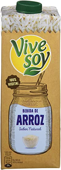 Vivesoy Bebida de arroz - Paquete de 6 x 1 l - Total: 6 l