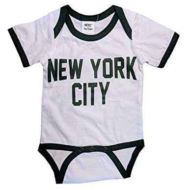 Amazon Com Nyc Factory New York City Baby Bodysuit Ringer Shirt
