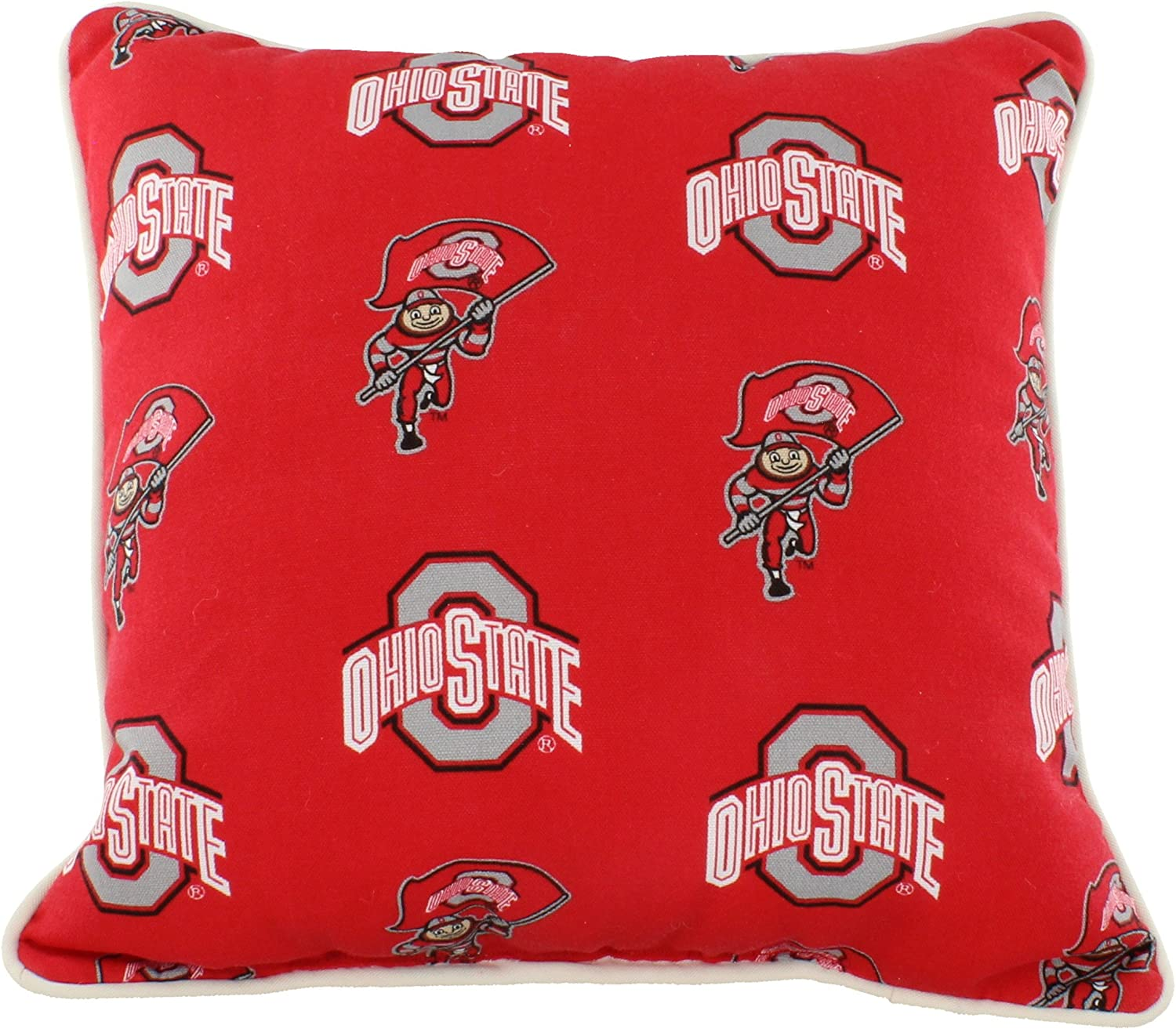 College Covers Outdoor Decorative Throw Pillow, 16 x 16 , Ohio State Buckeyes
