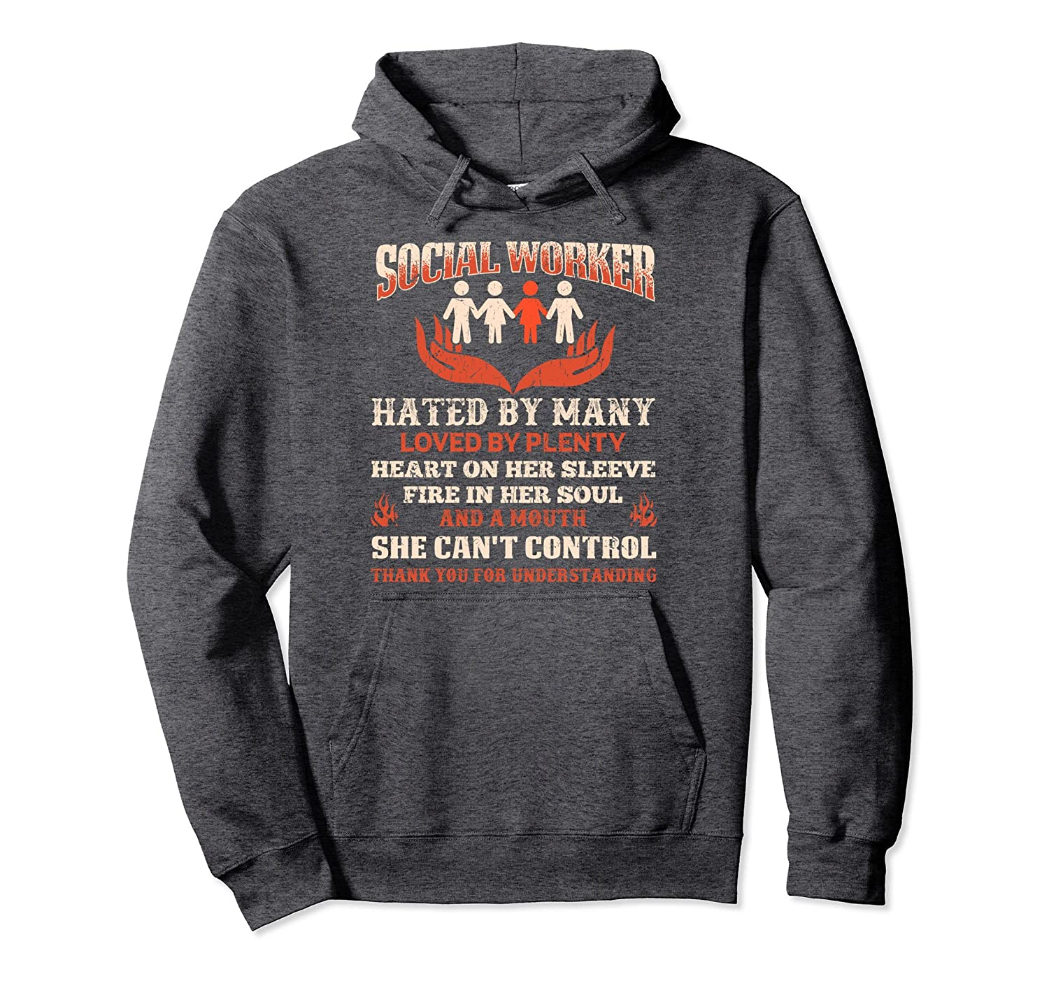 Social Worker Hated By Many Hoodie Cool Social Work Gift-4LVS