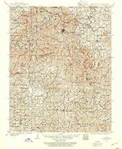 YellowMaps Eureka Springs AR topo map, 1:125000 Scale, 30 X 30 Minute, Historical, 1900, Updated 1954, 20.8 x 17 in