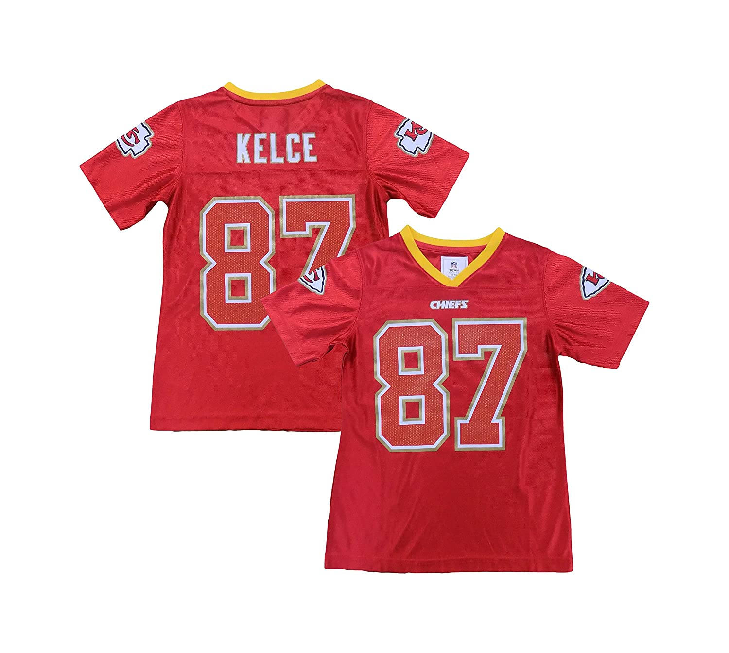 reputable site 66d41 f6ba5 Travis Kelce Kansas City Chiefs #87 Red Dazzle Girls Youth ...