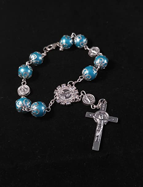 Amazon.com: Blue Boy/Girl Hand Bracelet,Decoration,Recuerdo ...