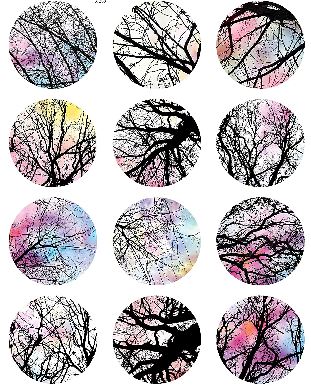 Images Enamel 3 Different Size Sheet Enamel Decal Choose Either Ceramic Ceramic Decal Bare Trees of Winter Waterslide Decal to Choose from Glass Decal 61266 or Glass Fusing Decals