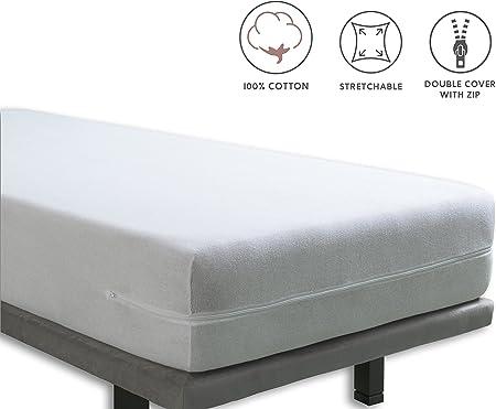 Tural – Funda de colchón elástica con Cremallera para Cuna. Rizo ...