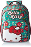 Hello Kitty Polyester 16 Inch Turquoise and Red Children's Backpack (Age group :6-8 yrs)