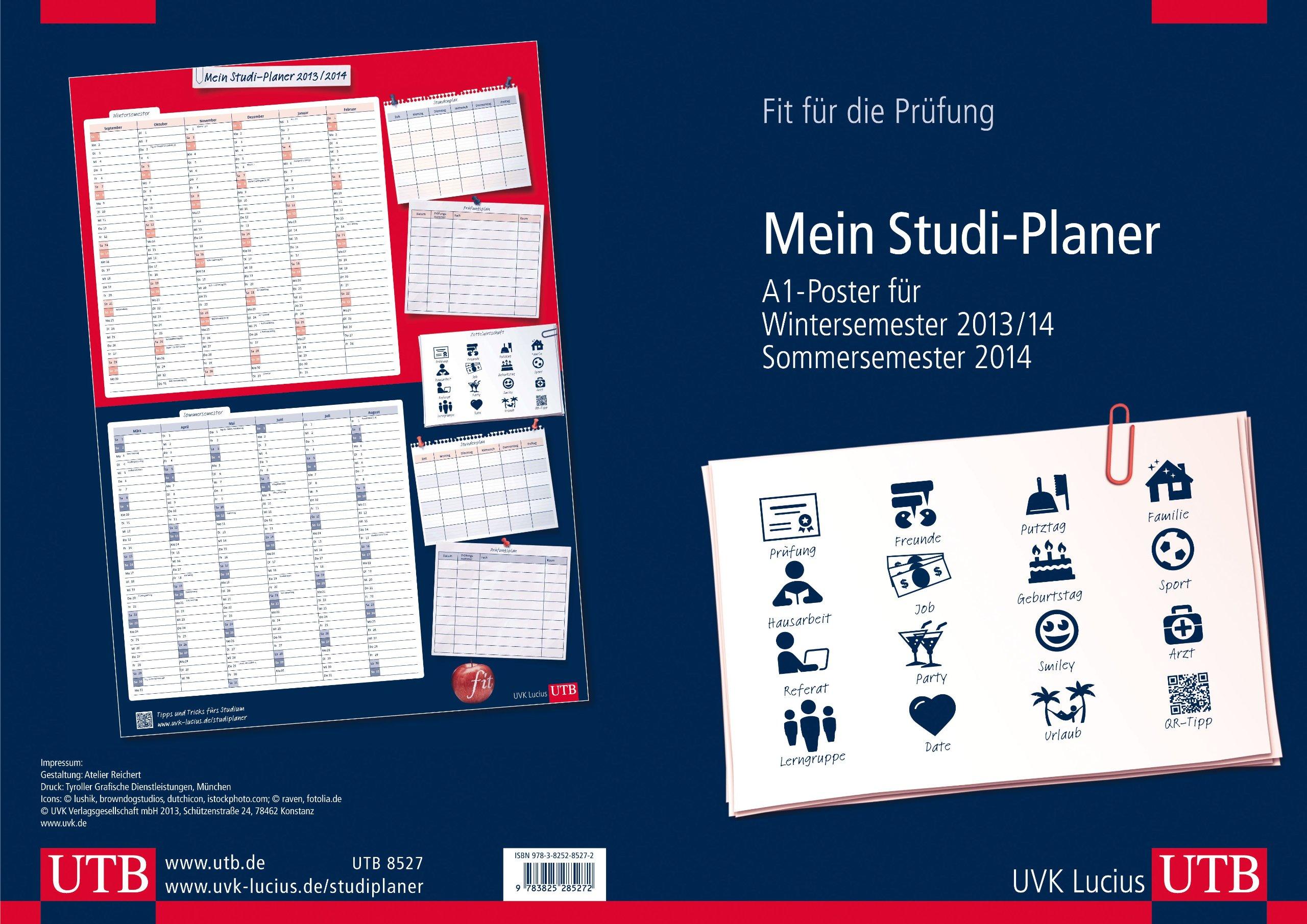 Mein Studi-Planer A1 Poster für Wintersemester 2013/14 und Sommersemester