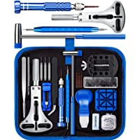 Watch Repair Kit, SHOWPIN Watches Battery Replacement Tool Kit with Watch Back Opener, Watch Link Removal Tool and Watch Strap Adjustment Tool with Instruction Manual